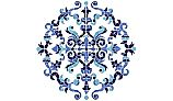 "Porcelain Mosaic Medallion | Masterpiece Large 42""x42"" 